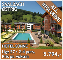 Hotel Sonne - Saalbach - Sommerferie - All inclusive i Østrig